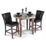 Restaurant Round Artifical Marble Dining Table Set
