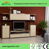 Popular Straight Design Office Wooden Furniture with Stainless Steel Leg