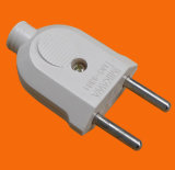 European Style 2 Round Pin Power Plug with Earth (P7051)