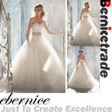 White Tulle Lace a-Line Sweetheart Wedding Dress Bridal Gown (F201)