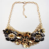 New Item Flower Steel Part Chain Fashion Jewellery Necklace