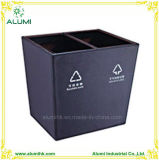 Rectangle Sorting Waste Bin with Fire Resistant Metal Inner Liner
