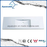 Sanitary Ware Solid Surface Polymarble Bathroom Wash Basin