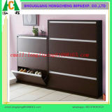Wood Panel Shoe Cabinet