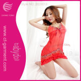 Hot Embroidered Sexy Lingerie Babydoll for Lady (BD3002)
