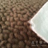 Polyester Velvet Elephant Skin Fabric with Washed Treatment
