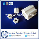 Ceramic Random Packing High Alumina Fluted Ring (Alumina Ring Al2O3: 99%)