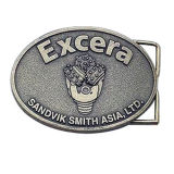 Custom OEM Belt Buckle with Antique Silver Finish