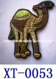 Animal Embroidery Badges/Handmade Animal Badges/Metallic Thread Animal Badges