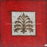 New Design Handmade Silver Foil Flower Oil Painting (LH-500918)