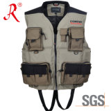 High Quality Flotation Fishing Vest with Ce Certificate (QF-1906)