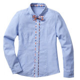 Newest Style High Grade Light Color School Uniforms for Senior School Girl's Shirt and Skirt