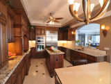 2013 Antique Solid Wood Kitchen Furniture (Kitchen Cabinet) (SW-09)