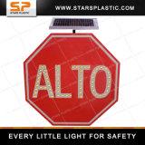 Mutcd Standard Aluminium LED Flashing Alto Solar Road Traffic Sign (ST-STS-3F)