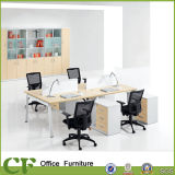 Modern Designed Ergonomic Commercial MDF 4 Person Office Workstation with Partition