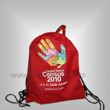 Tailored Logo Printed Polyester Sports Campaign Fans Drawstring Backpack