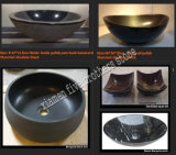 Stone Black Wash Basin Sink for Bathroom Kitchen