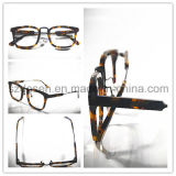 High Quality Custom Logo Brown Marble Spectacle Frames
