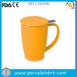 Ceramic Yellow Tea Mug with Infuser