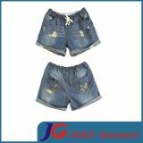 Women′s Sport Elastic Denim Shorts (JC6068)