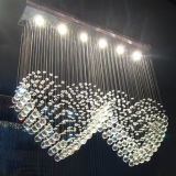 Double Heart Ceiling Light High Quality Crystal Chandelier (GD-8022-6)