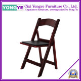 Mahogany Plastic Resin Party Folding Chair with Pad
