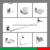 Rectangle Brass Suction Chromed Bathroom Accessory Set