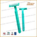 Twin 6cr16 Stainless Steel Blade Popular Disposable Razor (LY-2355)