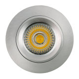 Lathe Aluminum GU10 MR16 Round Fixed Recessed LED Spotlight (LT2104)