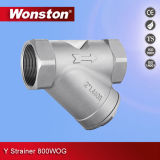 Stainless Steel Y Strainer with Thread End 800wog