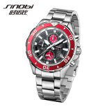 Chronograph Men Stainless Steel Watch (Red Bezel) (SII1124)