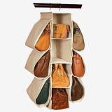 Canvas Hanging Handbag Storage Organizer, Canvas Hanging Purse Organizer
