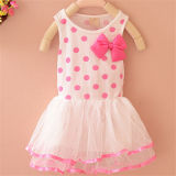 2015 Wave Point Dress with Wholesale Price Casual Girl Dress