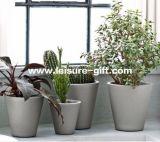 Fo-280 Tapered Round Hotel Fiberglass Planter Pot