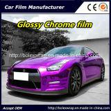Purple Glossy Chrome Film Car Vinyl Wrap Vinyl Film for Car Wrapping Car Wrap Vinyl