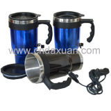 Stainless Steel Electric Car Mug with Handle