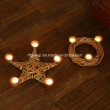 Delicate Crafted Customized Wicker Candleholder for Christmas Home Decoration