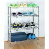 Flat 4 Tiers Adjustable Metal Shoe Rack (LD603590B4C)