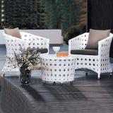 Popular Outdoor Wicker PE Rattan Furniture with 2chairs and 1 Table for Hotel and Apartment