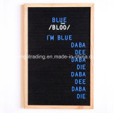 Different Size Changeable Felt Letter Board with Plastic Colorful Letters