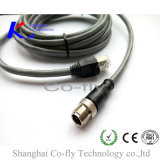 M12 3 Pins a Coding Shielding Male with Rj 45 Male Adapter Plug