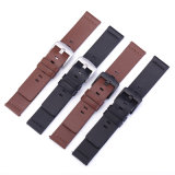 High-Quality Calf Leather Watch Strap with Square Tail