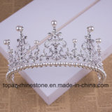 2018 Newest Customized Crystal Crown Wedding Glass Stonne Christmas Gift Tiaras Bridal Crown (BC06)