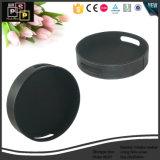 Luxury Custom Leather Round Shape Tray (5287)