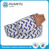 Unisex White Fashion Alloy Needle Woven Belt