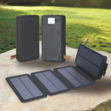 Folding Solar Charger 10000mAh Portable Solar Power Bank Dual USB
