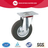 6 Inch Plate Swivel Rubber Industrial Caster