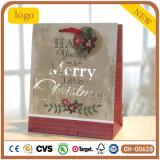 Christmas Hot Stamping Font Design Paper Bag,