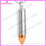 Fashion Jewelry Bullet Cremation Urn Pendant Necklace for Ashes Keepsake Holder (IJD2063)