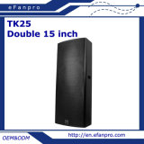 Double 15 Inch Powered Stage Monitor Speaker Audio System (TK25)